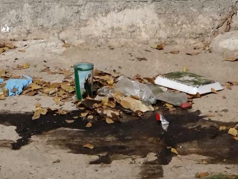 El canal Chulavista en Culiacán, un peligro para las personas.
