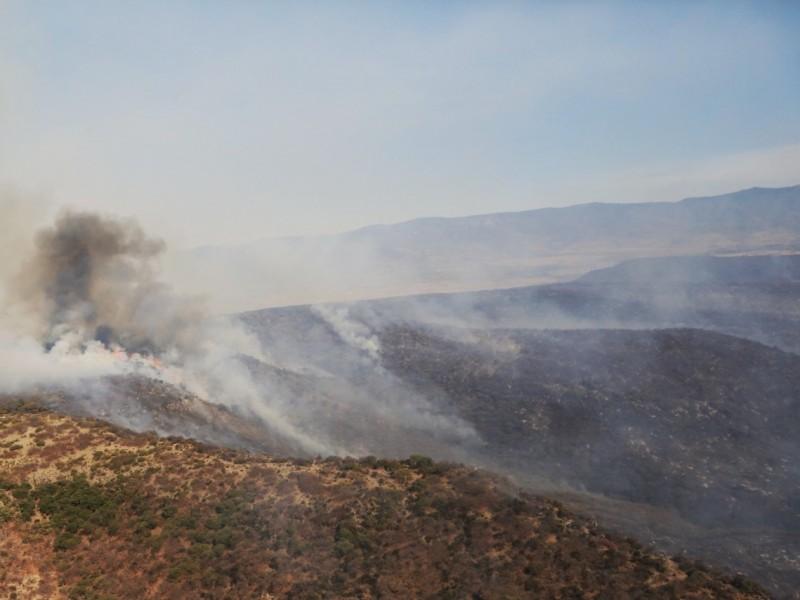 El incendio en Villanueva ha afectado 3 mil 159 héctareas