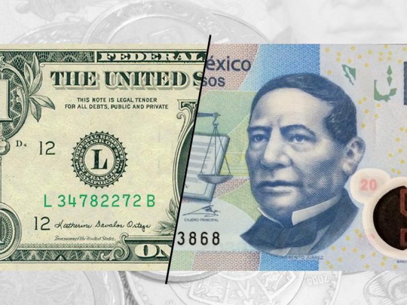 El peso se recupera y gana 0.55% frente al dólar