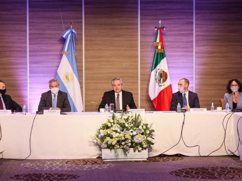 El presidente de Argentina se reúne con empresarios mexicanos