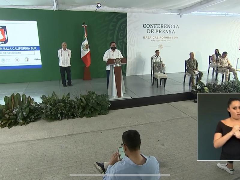 El Presidente López Obrador inició gira por Los Cabos