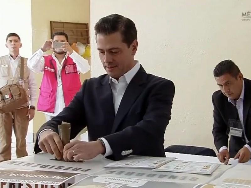 Peña Nieto votó por última vez como presidente