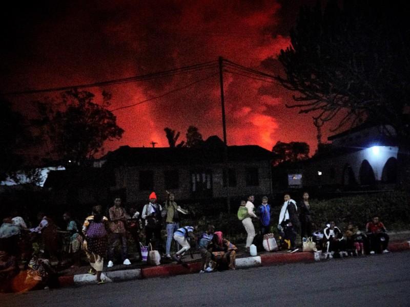 El volcán Nyiragongo hace erupción en el Congo