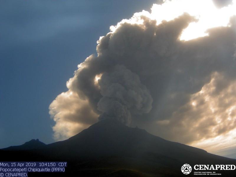 El volcán Popocatépetl se mantiene estable: SGG