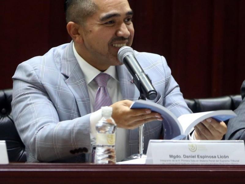 Eligen a Daniel Espinosa Licón como presidente del Supremo Tribunal