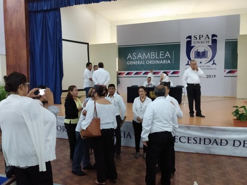 Eligen Académicos a dirigente sindical SPAUNACH