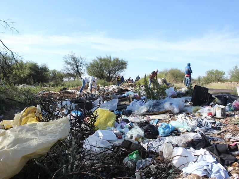 Eliminan basurero clandestino en comunidad de Guadalupe