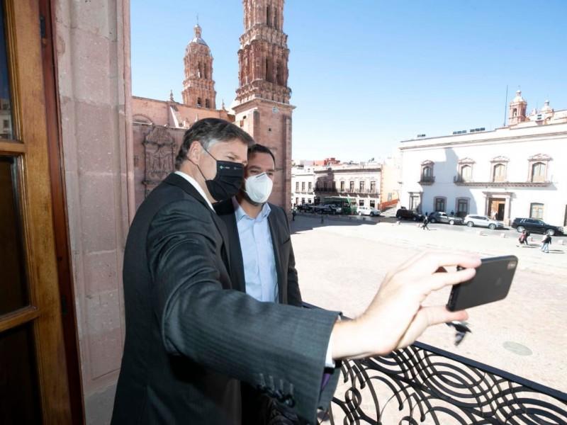 Embajador estadounidense visita Zacatecas