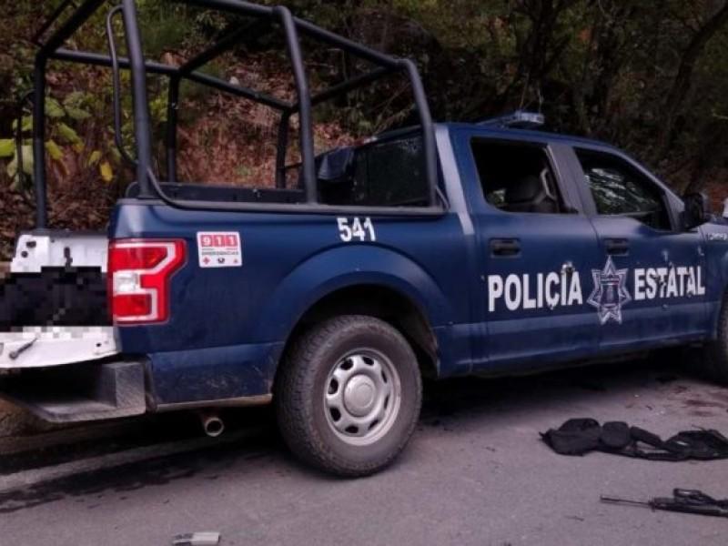 Emboscan a Policías estatales en Guerrero, reportan 6 muertos