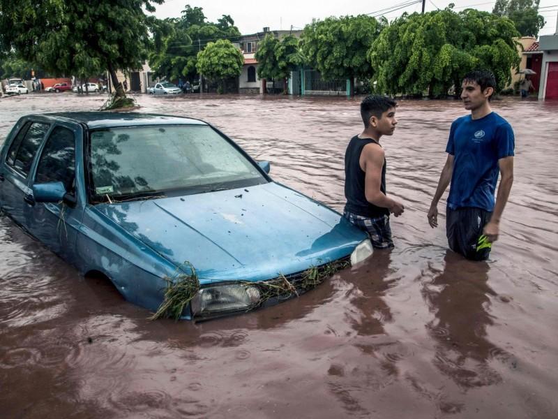 Emergencia en Sinaloa; lluvias dejan 4 muertos