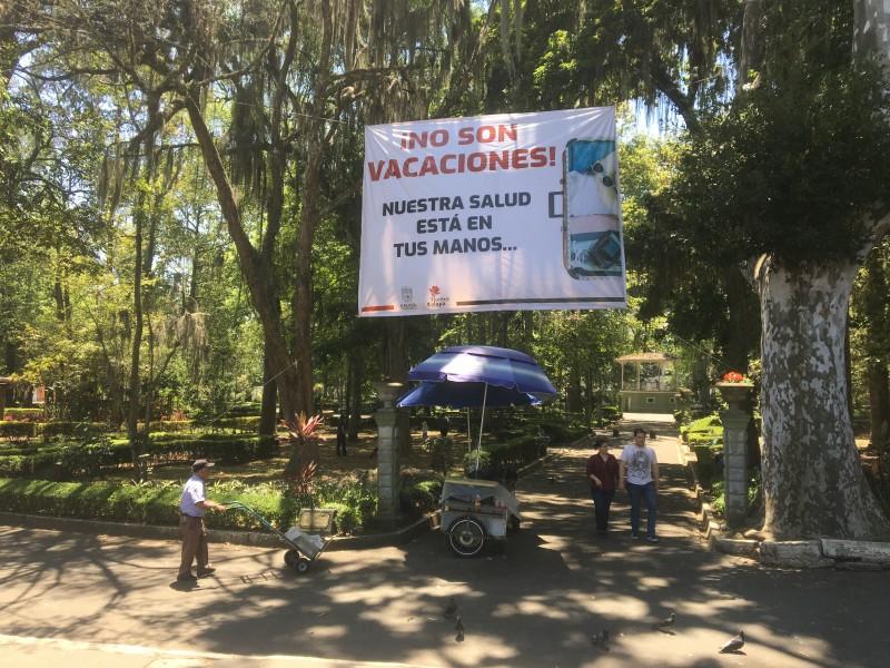 Emiten avisos para evitar parques de Xalapa