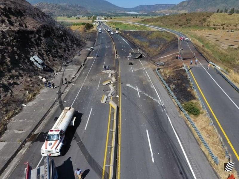 Empresa gasera deberá asumir pago en accidente de autopista Guadalajara-Tepic
