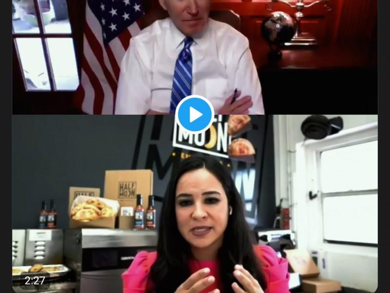 Empresaria veracruzana sostiene plática con Joe Biden