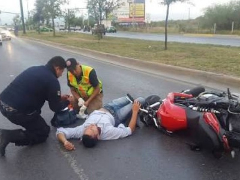 En aumento accidentes de motociclistas