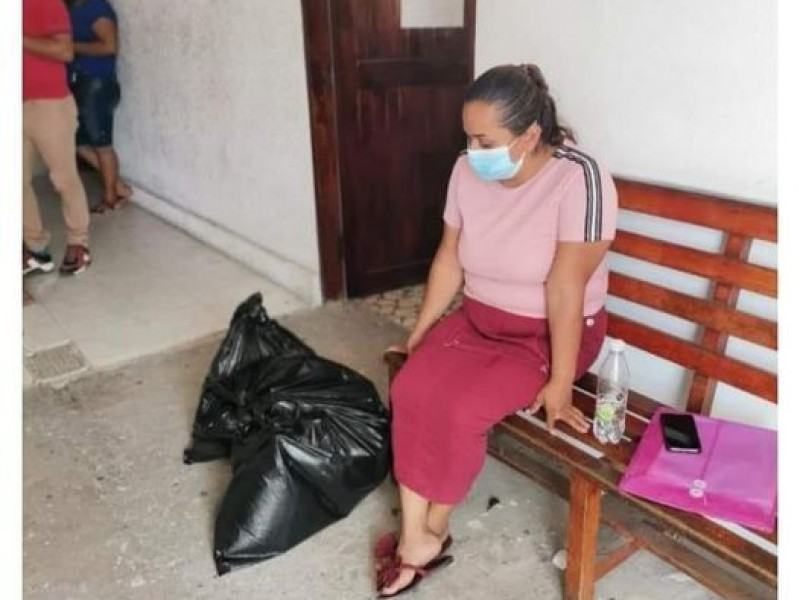 En bolsas negras para basura, así entregaron restos de desaparecido
