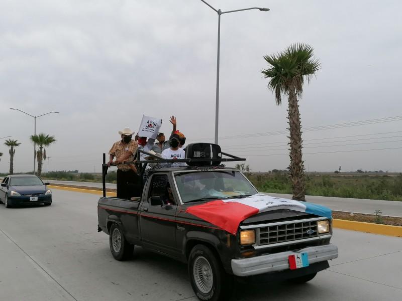 En caravana protestan contra la planta de amoníaco