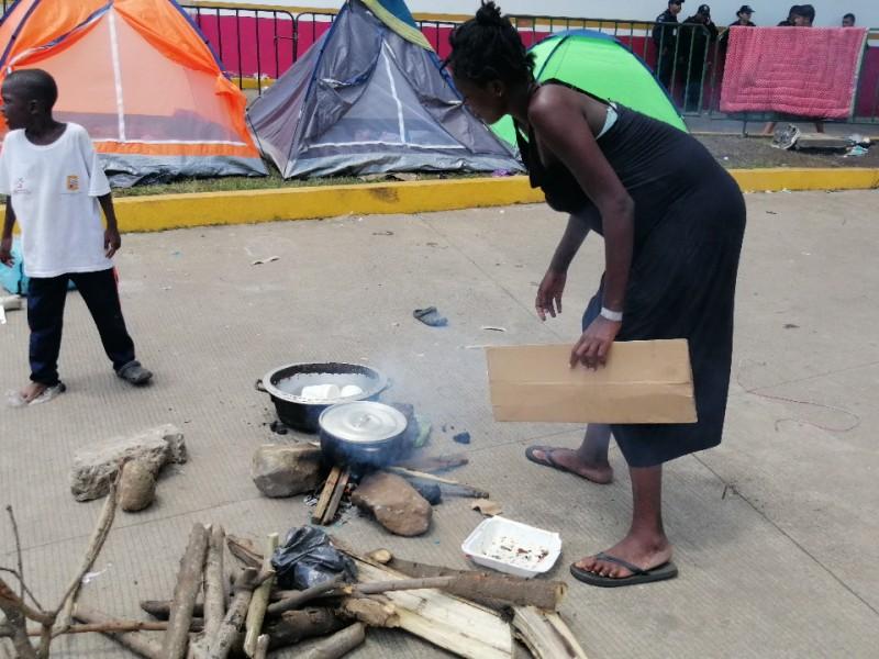 En condiciones inhumanas viven migrantes africanos en Tapachula