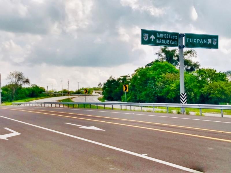 En funciones libramiento de la Tuxpan-Tampico