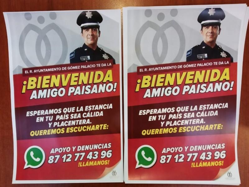 En Gómez Palacio arranca operativo Paisano 2019