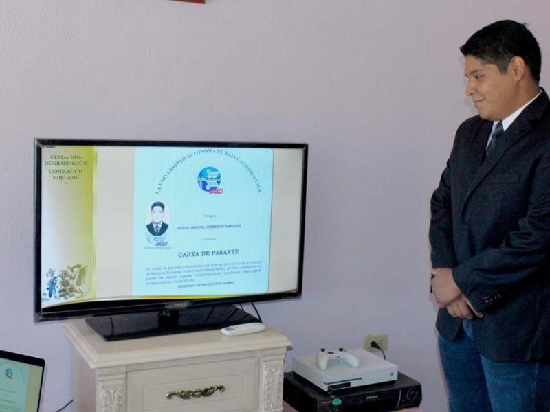 En la UABCS se gradúan de manera virtual