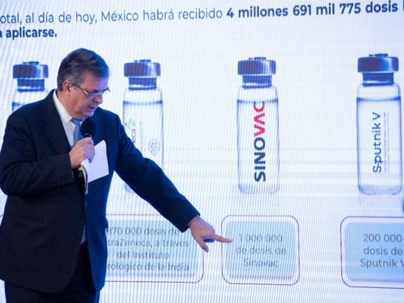 En marzo ya se usará la vacuna CanSino: Ebrard