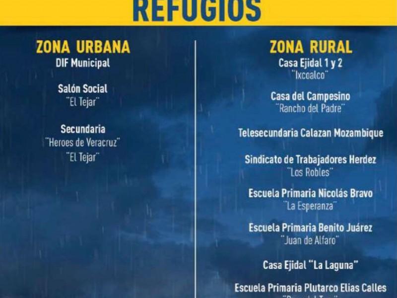 En Medellín de Bravo preparados 11 albergues temporales