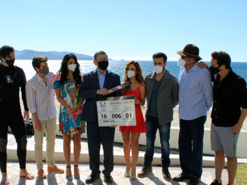 En plena pandemia inician grabación de novela en San Carlos