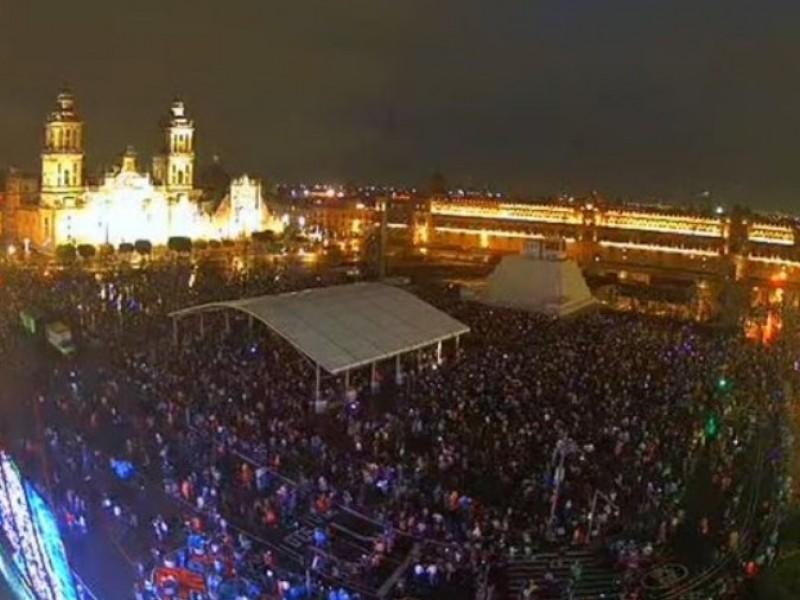 En plena pandemia, se congregan para ver brillar Tenochtitlán