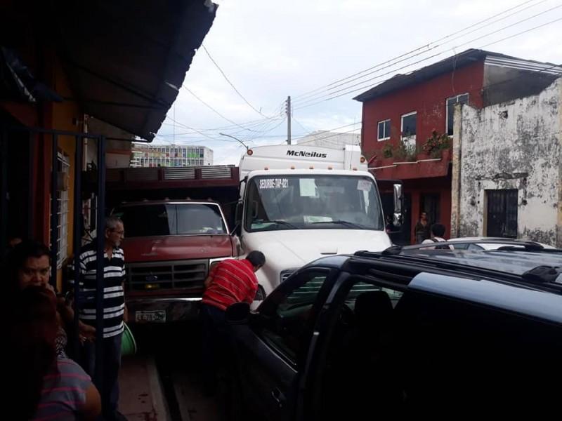En Tapachula, colisiona nuevo camión recolector de basura