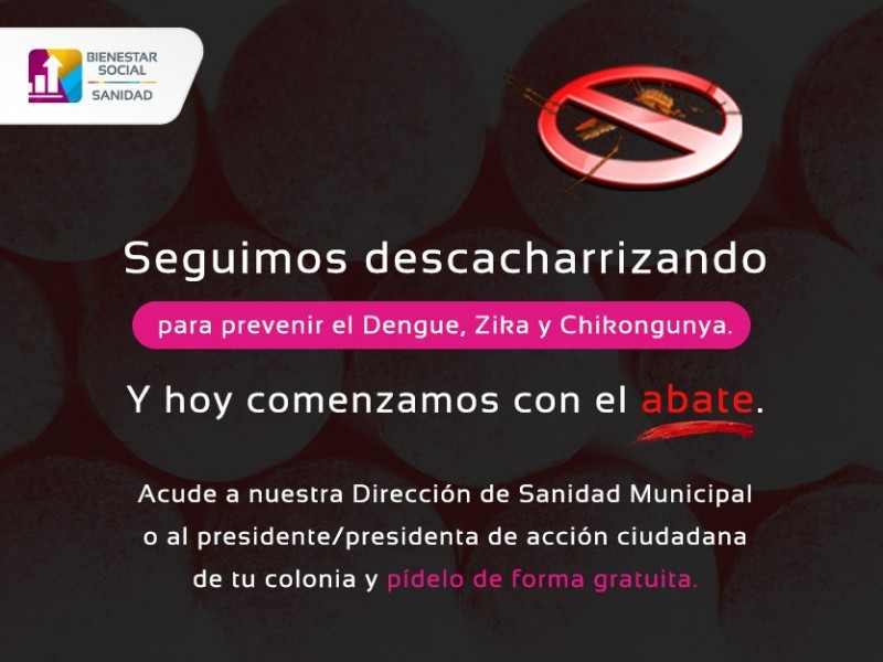 En Tepic reparten abate para prevenir el dengue