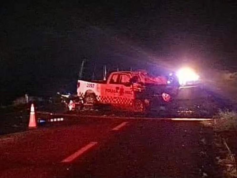 En trágico accidente muere comandante de la policía vial