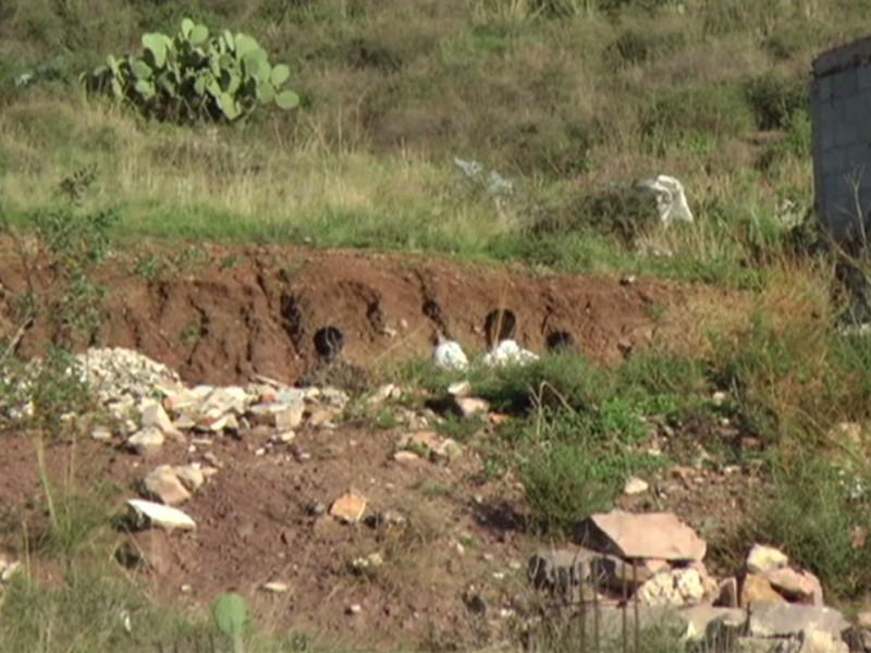 En Villa de Cos, localizan tres cuerpos en fosa clandestina