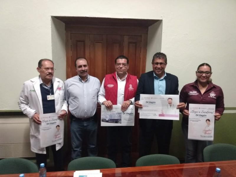 En Zacatecas el Dr. Vagón