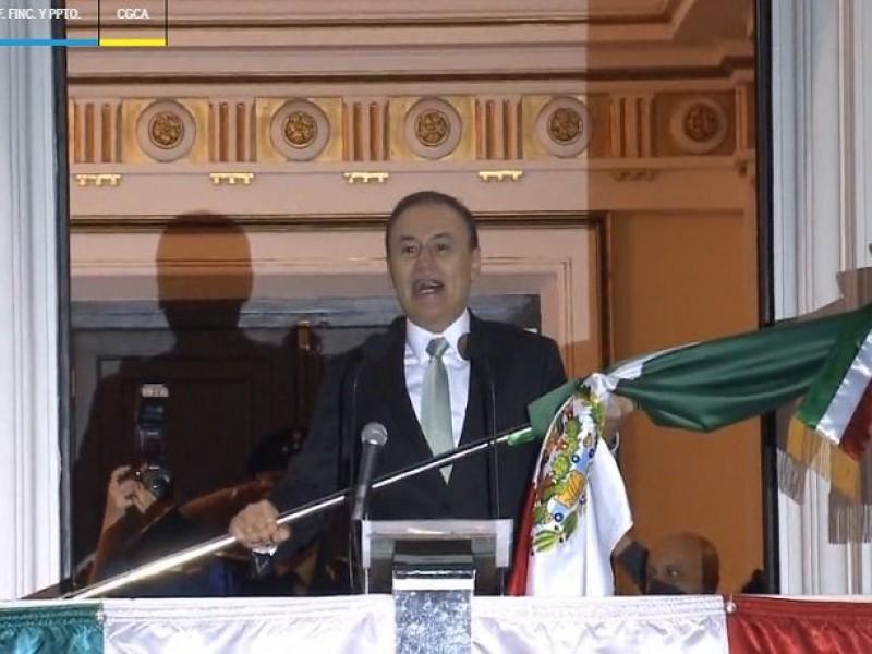 Encabeza Durazo Grito de Independencia como Gobernador