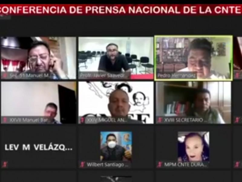 Encuesta nacional CNTE en contra de regreso a clases presenciales
