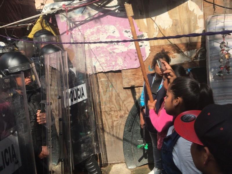 Enfrentamiento en la colonia Juárez por desalojo
