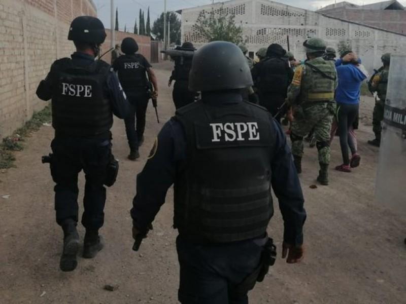 Enfrentamiento entre FSPE y. criminales en Celaya