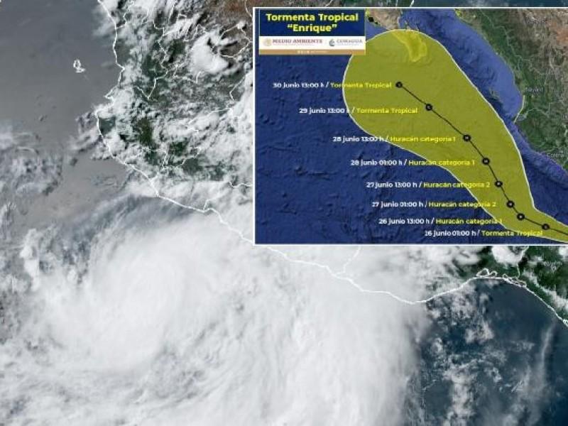 Enrique es huracán Categoría I