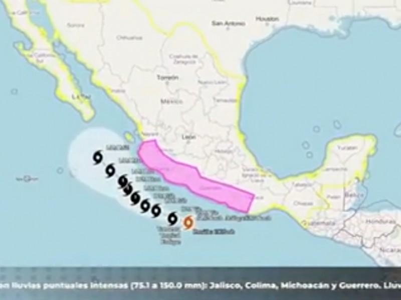 Enrique ya es tormenta tropical, avanza por el Pacífico mexicano