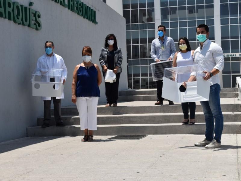 Entraga diputada equipo de protección a personal de salud