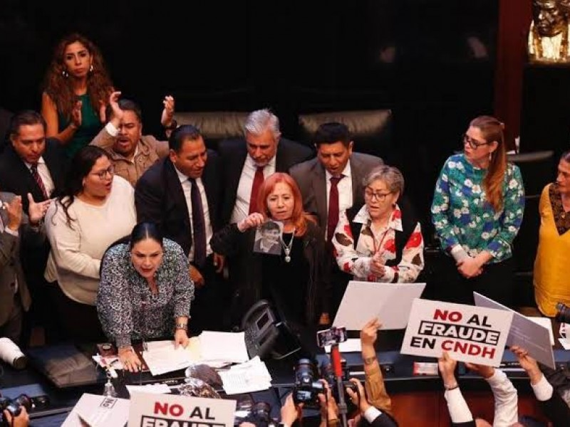 👨⚖️Entre gritos y jaloneos RosarioPiedra toma protesta