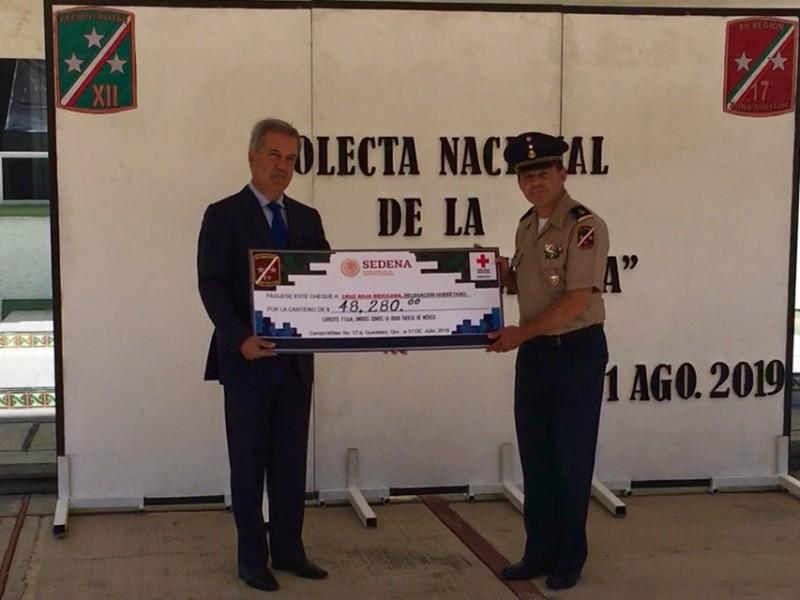 Entrega 17a. zona militar donativo a Cruz Roja