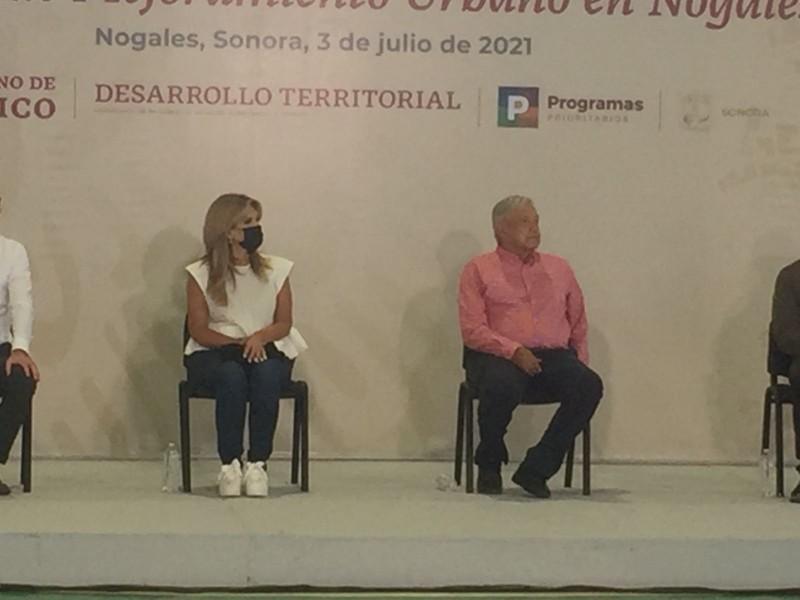 Entrega Presidente López  Obrador obras del PMU