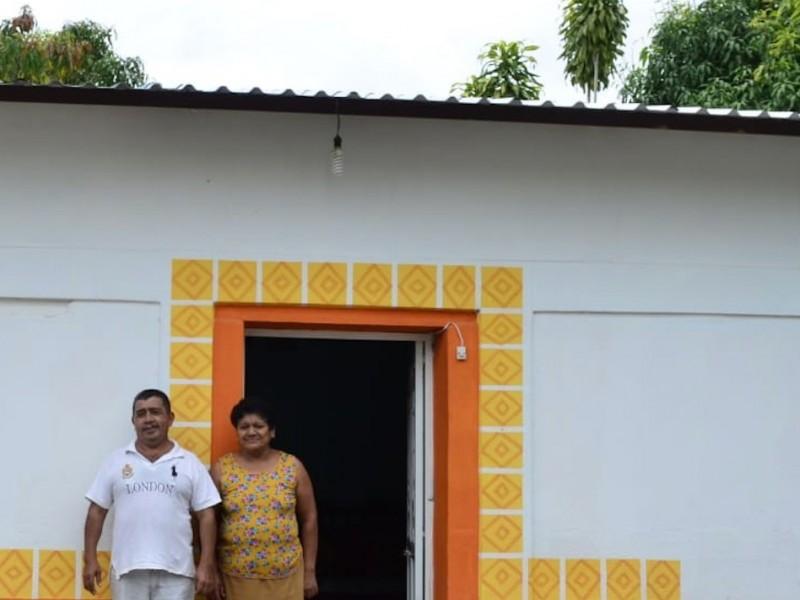 Entregan 135 viviendas reconstruidas en Chiapas