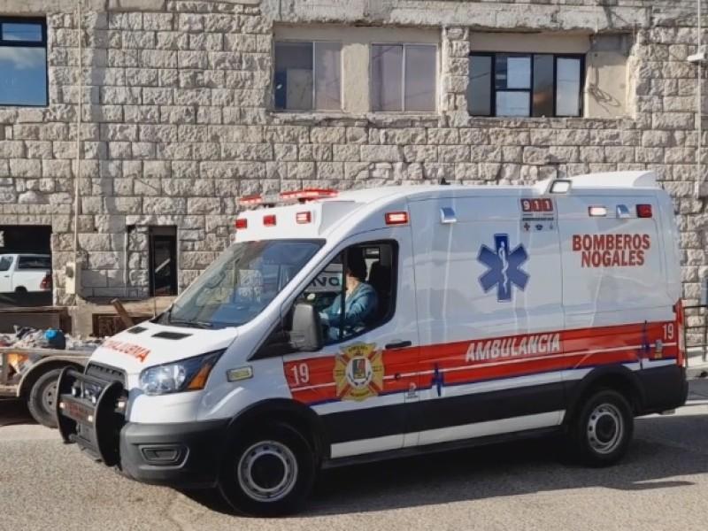 Entregan ambulancia al departamento de Bomberos de Nogales