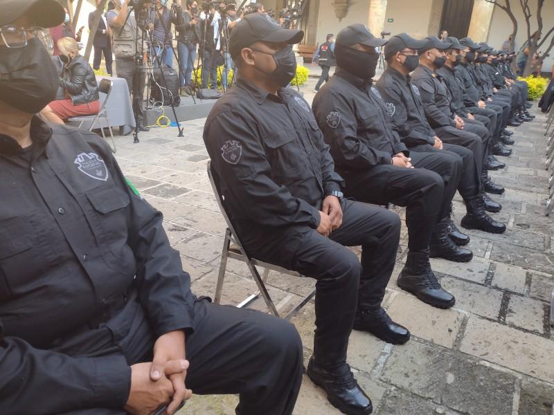 Entregan ascensos a 88 policías estatales