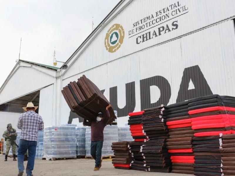 Entregan ayuda humanitaria a damnificados por lluvias en Chiapas