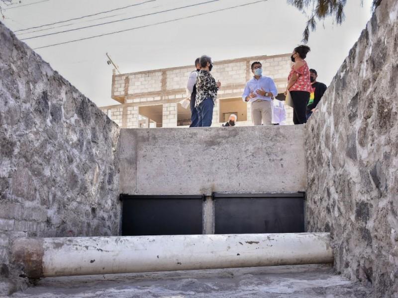 Entregan obra de solución pluvial en Corregidora