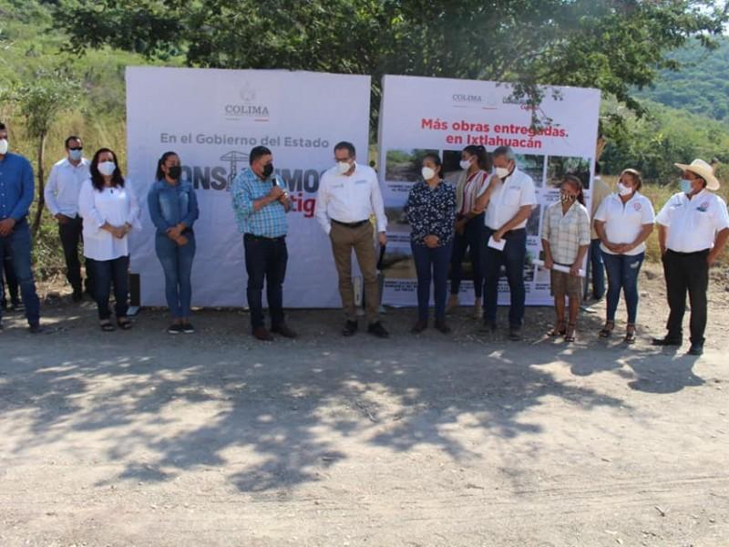 Entregan obras en Ixtlahuacán