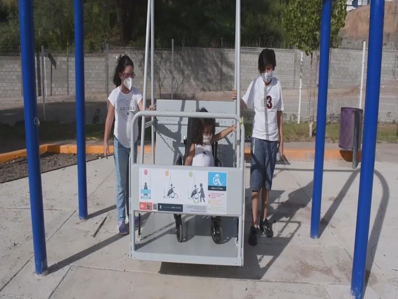 Entregan primer parque inclusivo para niños con discapacidad